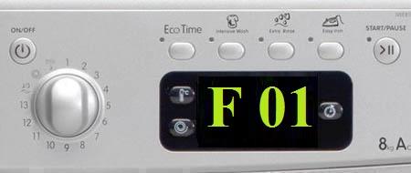 Ошибка F01 стиральная машина Аристон
